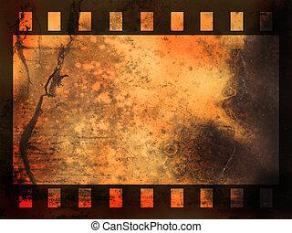 抽象的, フィルム, 背景, ストリップ