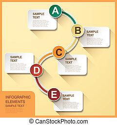 抽象的, フローチャート, infographics