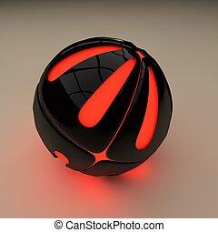 抽象的, プラスチック, 球
