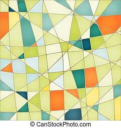 抽象的, ベクトル, カラフルである, モザイク, 背景