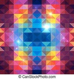 抽象的, ベクトル, カラフルである, 三角形, 背景