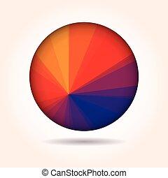 抽象的, ベクトル, カラフルである, 低い, poly