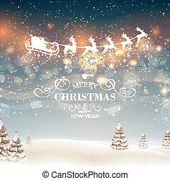 抽象的, ベクトル, デザイン, クリスマス