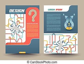 抽象的, ベクトル, デザイン, テンプレート