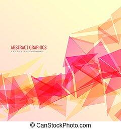 抽象的, ベクトル, デザイン, 幾何学的, 背景