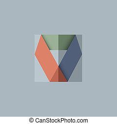 抽象的, ベクトル, デザイン, 背景