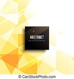 抽象的, ベクトル, デザイン, 黄色の背景