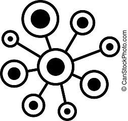 抽象的, ベクトル, ネットワーク, アイコン