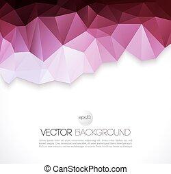 抽象的, ベクトル, 三角形, 幾何学的, 背景