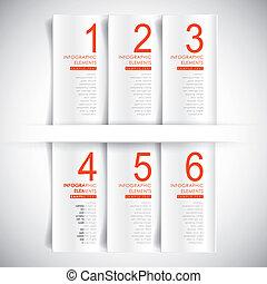 抽象的, ベクトル, 旗, 3d, infographics