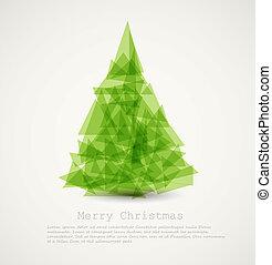 抽象的, ベクトル, 木, 現代, クリスマス