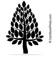 抽象的, ベクトル, 木, 葉