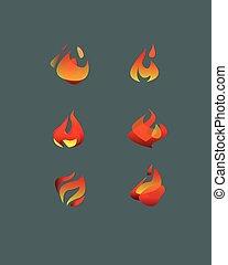 抽象的, ベクトル, 炎
