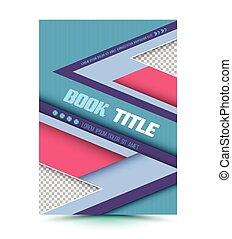 抽象的, ベクトル, 現代, brochure.
