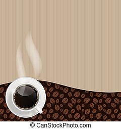 抽象的, ベクトル, 背景, コーヒー, イラスト
