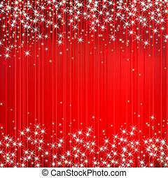 抽象的, ベクトル, 赤い背景