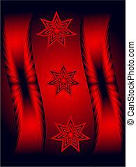 抽象的, ベクトル, 黒い赤, 背景
