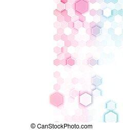 抽象的, ベクトル, hexagonal., 3d