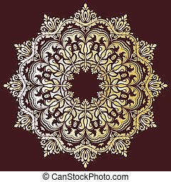 抽象的, ベクトル, pattern., 東洋, 背景