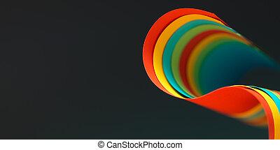 抽象的, ペーパーを彩色した, 構造, 上に, グレーのバックグラウンド