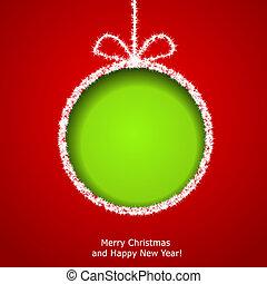 抽象的, ボール, クリスマス