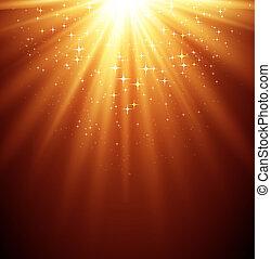 抽象的, マジック, ライト, backgroud, ∥で∥, 星