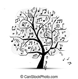 抽象的, ミュージカル, 木, ∥ために∥, あなたの, デザイン