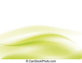 抽象的, ライト, 流れること, 緑の背景