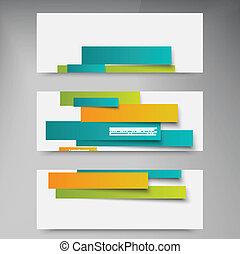 抽象的, ライン, ベクトル, パンフレット, カード, design.