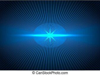 抽象的, ライン, 見通し, 青, 概念, 未来派, 接続, 照明, 暗い, 技術, バックグラウンド。, 未来