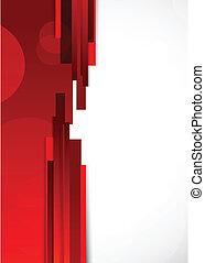 抽象的, ライン, 赤い背景