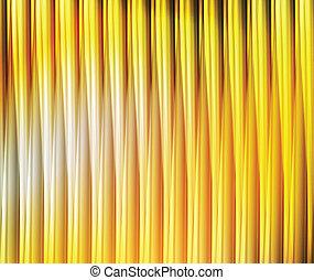 抽象的, ライン, 黄色, ベクトル, 背景, オレンジ
