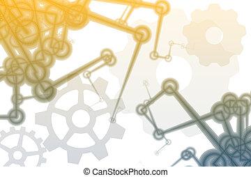 抽象的, ロボット, 腕, 未来派, 工場