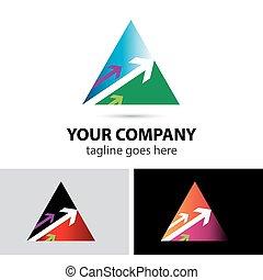 抽象的, 三角形, テンプレート, アイコン