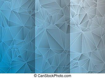 抽象的, 三角形, 背景