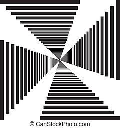 抽象的, 下降, 階段, 見通し, トンネル, 錯覚