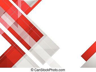 抽象的, 企業である, hi-tech, 背景, 赤