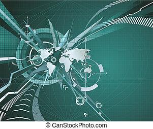 抽象的, 企業のビジネス, 背景
