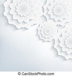抽象的, 優雅である, 背景, 花, 花, 3d