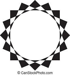 抽象的, 円フレーム, デザイン