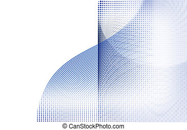 抽象的, 円, そして, ライン, 背景