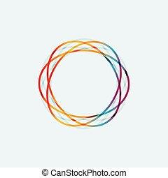 抽象的, 円, 線, 有色人種