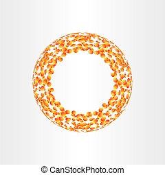 抽象的, 円, 背景, 融合, エネルギー