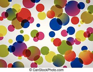 抽象的, 円, pattern., 背景, カラフルである