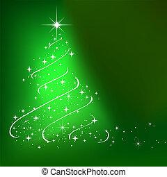 抽象的, 冬, 背景, ∥で∥, 星, クリスマスツリー