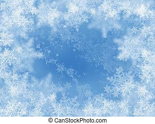 抽象的, 冬, 背景