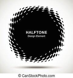 抽象的, 凸である, デザイン, ゆがめられた, ロゴ, 技術, texture., パターン, ボーダー, ...