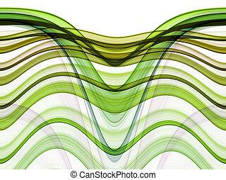 抽象的, 動き, 背景, 波