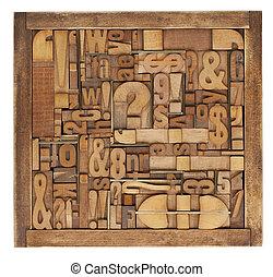 抽象的, 印刷ブロック, 凸版印刷