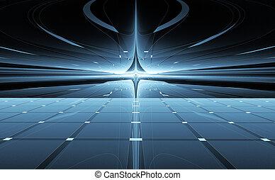 抽象的, 反り, 旅行, space., 時間